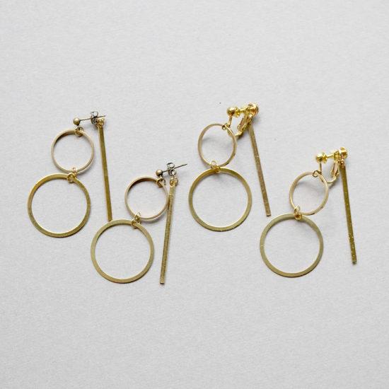 Brass earrings / Circle bar : ブラスイヤリング / サークルバー