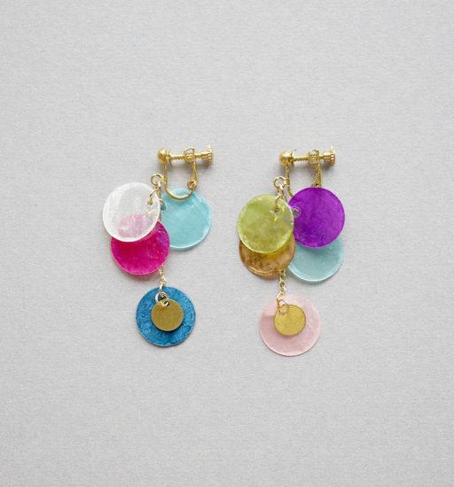 Shell earrings / Long Multi : シェルイヤリング / ロング マルチ