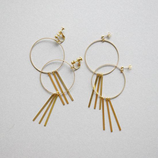 Brass earrings / Swinging : ブラスイヤリング / スイング