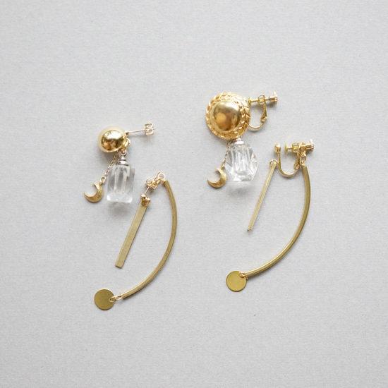 Bottle earrings / Brass : ボトルイヤリング / ブラス