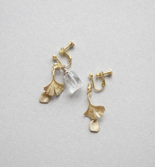 Bottle earrings / Ginkgo : ボトルイヤリング / イチョウ