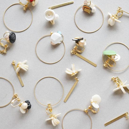 Brass earrings backs / Circle : ブラスイヤリングバック / サークル