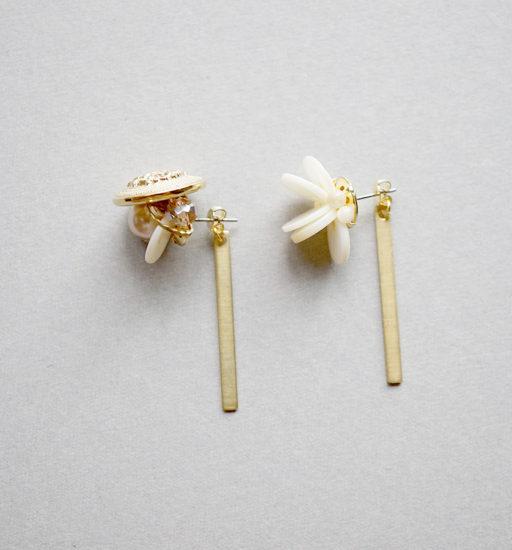 Brass earrings backs / Bar : ブラスイヤリングバック / バー